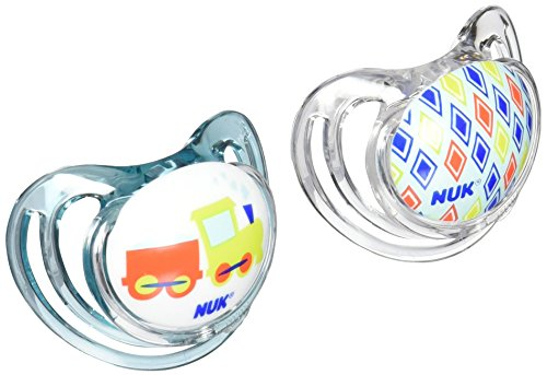 NUK Airflow Orthodontic Pacifier with Trains Design, 6-18 Months (Pacifier Pack compare prices)