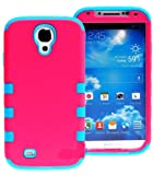 myLife (TM) Vibrant Pink and Sky Blue - Matte Design (3 Piece Hybrid) ... worderful for you
