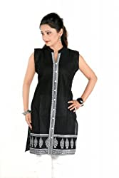 Sruti Women's Cotton Black Kurti -( 501 )-44