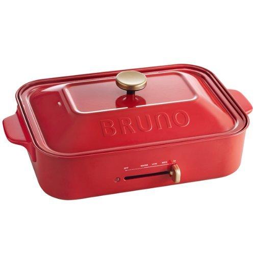 BRUNO コンパクトホットプレート BOE018-RD レッド BOE018-RD -