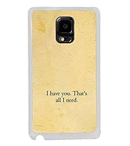 ifasho I have you that's all I need Back Case Cover for Samsung Galaxy Note 4 Edge