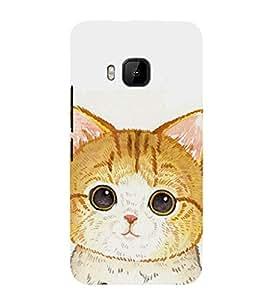 EPICCASE Cute Cat Face Mobile Back Case Cover For HTC One M9 (Designer Case)