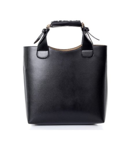 Free DeliveryNEW VINTAGE CELEBRITY TOTE SHOPPING BAG PU LEATHER ADJUSTABLE HANDLEBLACK