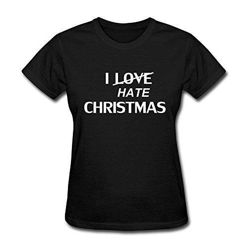 Ptcy Designed Girls' Tshirts Cool Christmas Xmas Gifts Giving Us Size Xl Black