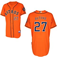 Jose Altuve Houston Astros Alternate Orange Authentic Cool Base Jersey by Majestic by Majestic