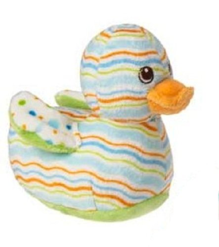 Mary Meyer Plush Bobber Ducky Rattle - Green - 6 Inches front-958159
