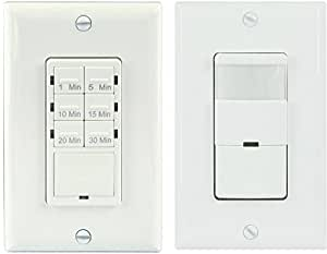 Topgreener Tdos5 Het06a Bathroom Fan Timer Switch And Light Sensor Switch Control 30 Minute