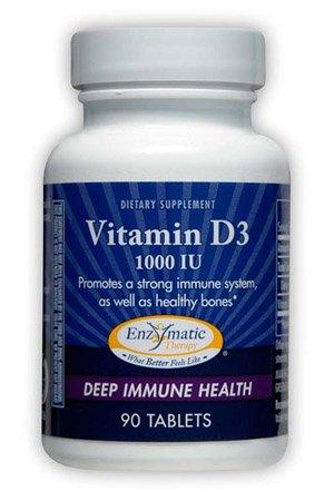 Enzymatic Therapy Vitamin D3 1000 Iu, 90 Tabs, 1000 Iu