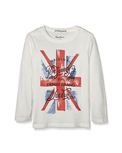 Pepe Jeans London Camiseta Manga Larga Tarel Blanco