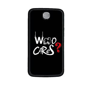 Vibhar printed case back cover for Nexus 6 WhoCares