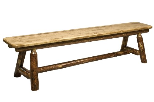 Montana Woodworks Glacier Country Collection Plank Style Bench, 6-Feet
