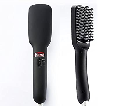 Hair Brush Straightener, Euph Hair Straightener, Anion instant Magic Silky Straight Hair Styling, Anti Scald Anti Static Ceramic Heating Detangling Hair