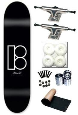 Plan B Team Icon Black Complete Skateboard Deck New Sale