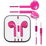 Pink Hi-Fi High Resolution Sound Stereo Fashion Sports Running GYM Headsets Earphones Earbuds Headphones headset With Remote, Mic & Volume Controls For Apple iPad 5/4/3/2/1, iPhone 5s 5 4 4s 3gs, Ipod Touch All Mp3 Mp4 Players Sony Creative Samsung, All