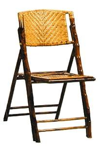 Bamboo Folding Chair Hard Back [Set of 4] by FurniturExpert