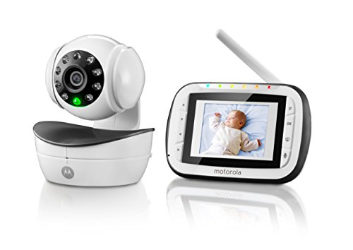 motorola wireless digital video baby monitor with video 2 8 inch color screen infrared night. Black Bedroom Furniture Sets. Home Design Ideas