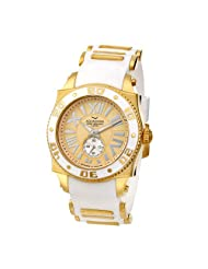 Aquaswiss Swiss Quartz 44 MM Watch Gold Dial Stainless Steel Gold and White Bezel 62G0064