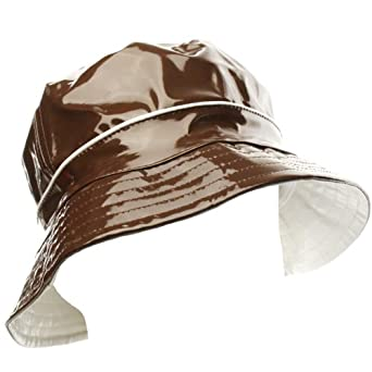 Unisex Rain Water Resistant Bucket Crusher Foldable Fisherman Hat Cap Brown 56cm