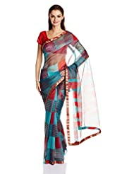 Boondh Net Saree With Blouse Piece