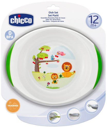 Chicco Dish Set 1 Plate / 1 Bowl / Suitable For Children Aged 12 Months And Above front-965803
