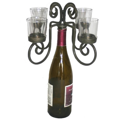 Old River Road 4-Votive Wine Bottle Candelabra