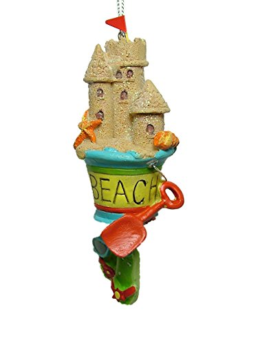 Midwest beach pail with sand castle christmas tree