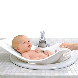 puj flyte compact infant bath white soft foldable infant bath tub white with. Black Bedroom Furniture Sets. Home Design Ideas