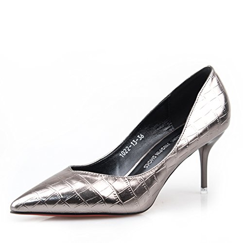 chaussures de crocodile/Spring Chaussures/Asakuchi/fin avec/Mode chaussures pointues/Mme talons