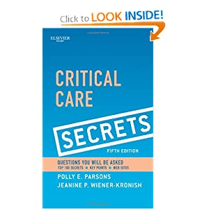 Critical Care Secrets Polly E Parsons MD And Jeanine P Wiener Kronish