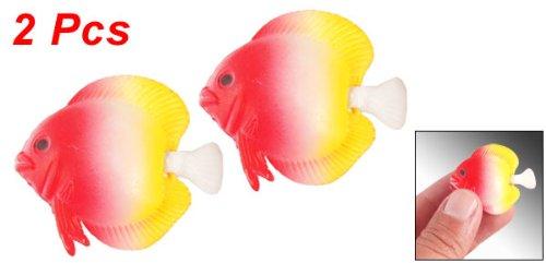 2 pi ces balance queue aquarium flottant poissons for Poisson rouge artificiel