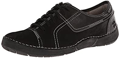 Naturalizer Women's Jolie Black Nubuck/Black Synthetic 4 M US