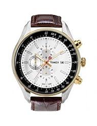 Timex E Class Chronograph White Dial Men's Watch - T2N157