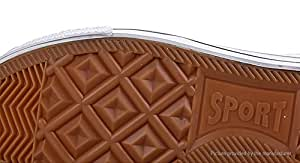 Men's Lace Up Low Top Canvas Shoes Sneakers (Size 43/White) - Men, Size 43, White