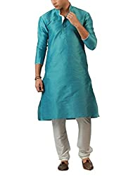 Mens Blue Self Engraved Sherwani For Men