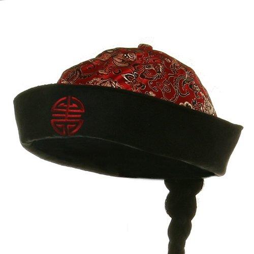 Chinese Skull Cap-Mandarin (Mandarin Hat With Braid)