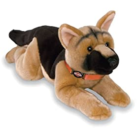 stuffed german shepherd dog
