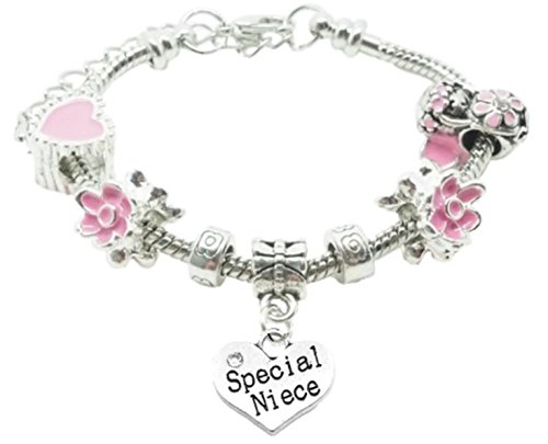 special-niece-childrens-charm-bracelet-in-pretty-pink-colour-theme