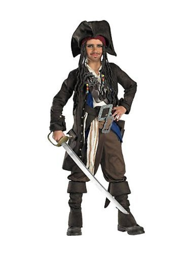 Captain Jack Sparrow Prestige Premium Child Costume - Small