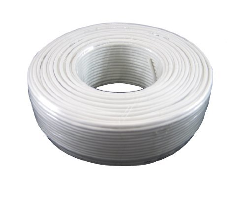 Round Phone Cable 300ft White Roll (100 M - 328 ft) 4X1/0.4 Reel Telephone Cord