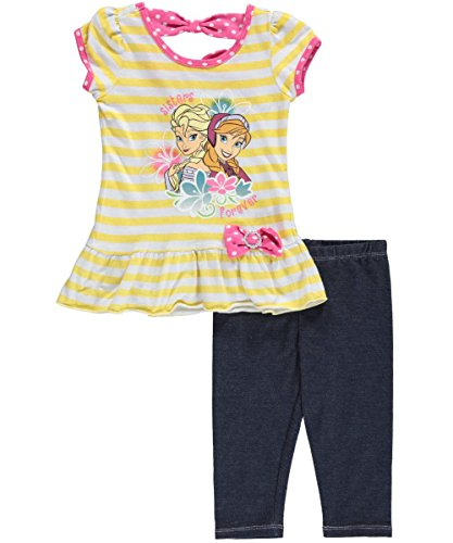 "Disney Frozen Little Girls' Toddler ""Sister Smile"" 2-Piece Outfit"