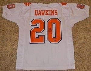 Brian Dawkins Autographed Jersey - White #20 Coa - Autographed College Jerseys by Sports+Memorabilia