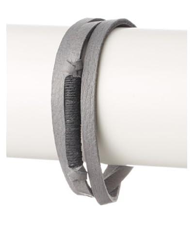 Griffin Grey Legend Leather Triple Wrap Bracelet