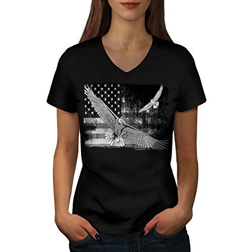 american-eagle-flag-us-falcon-women-new-black-l-v-neck-t-shirt-wellcoda