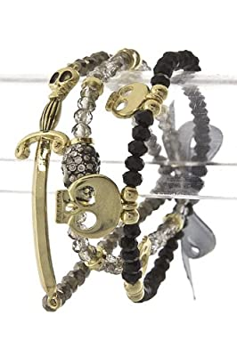 Trendy Jewelry - SKULL SWORD BEAD BRACELET - By Fashion Destination | Free Shipping from Fashion Destination