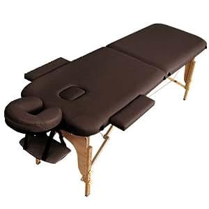 タンスのゲン マッサージベッド 軽量12kg 折りたたみ式 キャリーバッグ付 ブラウン 65190013 BR