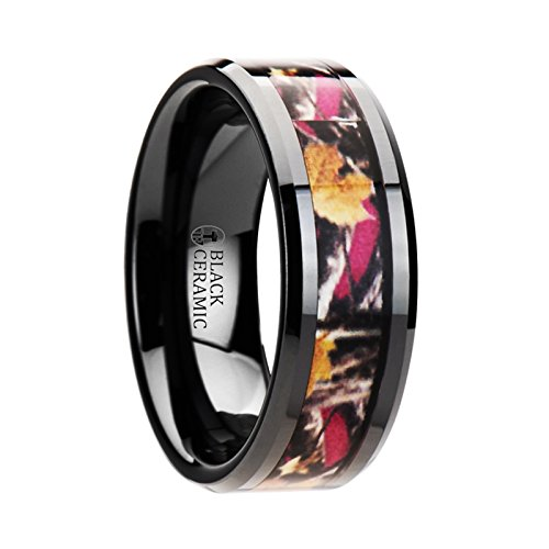 Pink And Black Wedding Rings