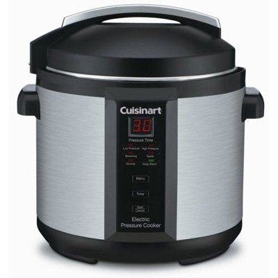 Cuisinart CPC-600 1000-Watt 6-Quart Electric Pressure Cooker, Brushed Stainless and Matte Black
