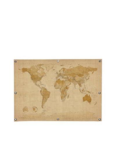 Michael Tompsett Antique World Map II Canvas Wall Mural