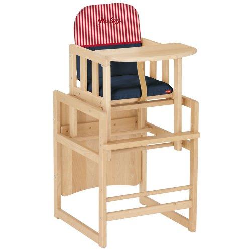 herlag h4842 252 hochstuhl kombi set tx buche massiv marine str rot weiss hochst hle. Black Bedroom Furniture Sets. Home Design Ideas