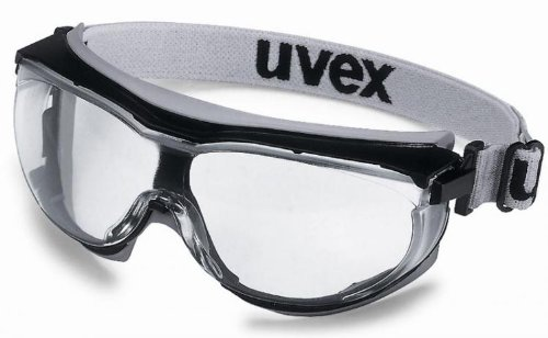 Uvex Carbonvision Clear Safety Goggles. Wide-Vision Anti-Fog Clear Lens. CE Marked